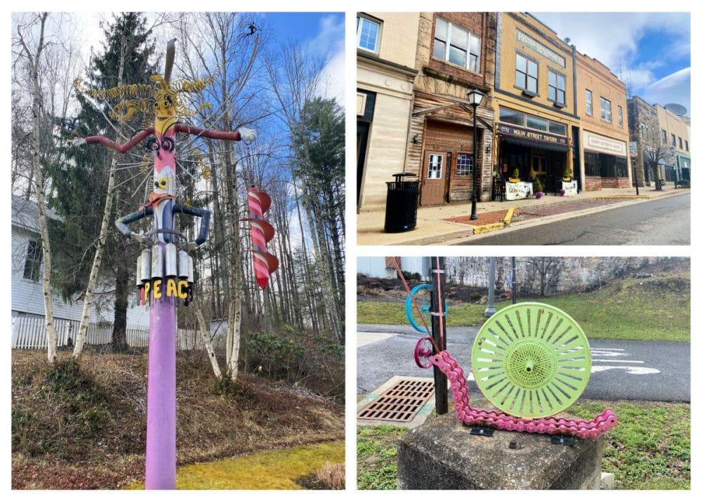 streets of downtown beckley and art installments