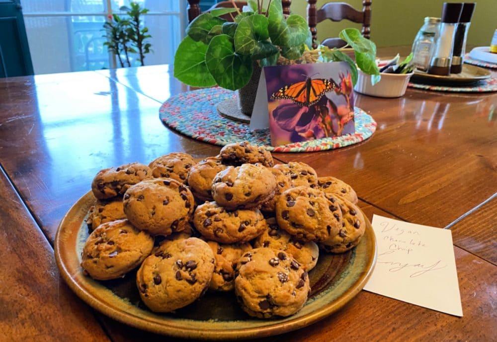 vegan cookies on platter
