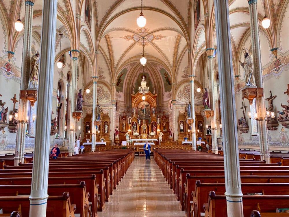 st-marys-church-pews-and-frescoes